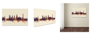 "Trademark Global Michael Tompsett 'Shrewsbury England Skyline IV' Canvas Art - 16"" x 24"""