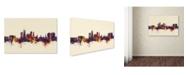 "Trademark Global Michael Tompsett 'Derby England Skyline IV' Canvas Art - 16"" x 24"""