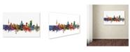 "Trademark Global Michael Tompsett 'Leipzig Germany Skyline IV' Canvas Art - 16"" x 24"""