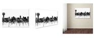 "Trademark Global Marlene Watson 'Knoxville Tennessee Skyline BW' Canvas Art - 16"" x 24"""