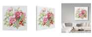 "Trademark Global Janneke Brinkman-Salentijn 'Pink Bouquet' Canvas Art - 18"" x 18"""