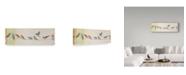 "Trademark Global Jean Plout 'Birds On Wire' Canvas Art - 16"" x 47"""