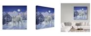"""Trademark Global Jeff Tift 'Moonlight Wilderness' Canvas Art - 18"""" x 18"""""""