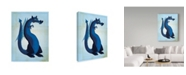 "Trademark Global John W. Golden 'Blue Dragon' Canvas Art - 18"" x 24"""