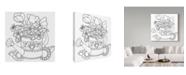 "Trademark Global Valarie Wade 'Watering Can Line Art' Canvas Art - 18"" x 18"""
