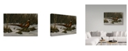 "Trademark Global Wilhelm Goebel 'Walking Through Winter' Canvas Art - 16"" x 24"""