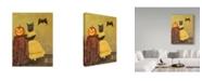 "Trademark Global J Hovenstine Studios 'Pumpkin And Cat' Canvas Art - 24"" x 32"""