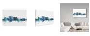 "Trademark Global Michael Tompsett 'Cape Town South Africa Blue Teal Skyline' Canvas Art - 19"" x 12"""