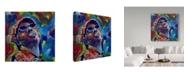 "Trademark Global Howie Green 'Stevie Wonder' Canvas Art - 14"" x 14"""