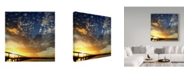 "Trademark Global Incredi 'Sunset Glory' Canvas Art - 14"" x 14"""