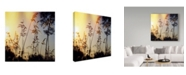 "Trademark Global Incredi 'Tall Floral' Canvas Art - 18"" x 18"""