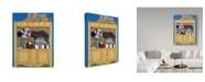 "Trademark Global Jan Panico 'Burger In A Favorite Spot' Canvas Art - 14"" x 19"""