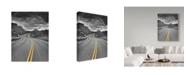 "Trademark Global Janice Sullivan '25 Miles' Canvas Art - 24"" x 32"""