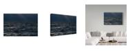 """Trademark Global Kurt Shaffer 'Light On A Restless Great Lake' Canvas Art - 19"""" x 12"""""""