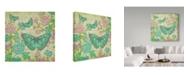 """Trademark Global Jean Plout 'Jardin De Luxe 1' Canvas Art - 24"""" x 24"""""""
