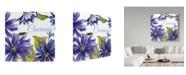 "Trademark Global Jean Plout 'Cineraria Purple White' Canvas Art - 14"" x 14"""