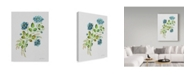 "Trademark Global Jean Plout 'Wild Rose Blue 1' Canvas Art - 14"" x 19"""