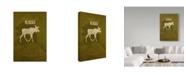 "Trademark Global Red Atlas Designs 'State Animal Alaska' Canvas Art - 12"" x 19"""
