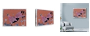"Trademark Global Maria Pietri Lalor 'Scifi Purple Rooster' Canvas Art - 19"" x 14"""