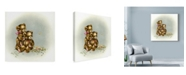 "Trademark Global Peggy Harris 'Teddy Bears Picnic 1' Canvas Art - 18"" x 18"""