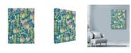 "Trademark Global Lisa Powell Braun 'Winter Cactus Allover' Canvas Art - 14"" x 19"""