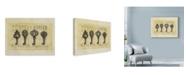 """Trademark Global Marcee Duggar 'Gold Key Vintage' Canvas Art - 24"""" x 18"""""""