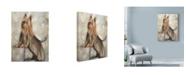 "Trademark Global Solveiga 'Silky Terrier 2' Canvas Art - 14"" x 19"""