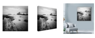 "Trademark Global Nina Papiorek 'Biarritz Pier' Canvas Art - 14"" x 14"""