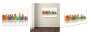 """Trademark Global Marlene Watson 'Philadelphia Pennsylvania Skyline II' Canvas Art - 16"""" x 24"""""""