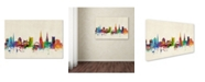 "Trademark Global Michael Tompsett 'Coventry England Skyline II' Canvas Art - 16"" x 24"""