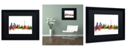 "Trademark Global Michael Tompsett 'Moscow Russia Skyline' Matted Framed Art - 16"" x 20"""