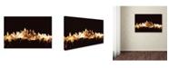 """Trademark Global Michael Tompsett 'Philadelphia PA Skyline Gold' Canvas Art - 30"""" x 47"""""""