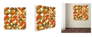 "Trademark Global Michelle Calkins 'Sixty Four Quarters' Canvas Art - 35"" x 35"""