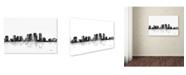 "Trademark Global Marlene Watson 'Tampa Florida Skyline BG-1' Canvas Art - 30"" x 47"""