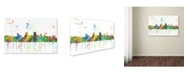 """Trademark Global Marlene Watson 'Springfield Illinois Skyline Mclr-1' Canvas Art - 30"""" x 47"""""""