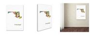 "Trademark Global Marlene Watson 'Maryland State Map-1' Canvas Art - 30"" x 47"""