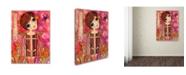 """Trademark Global Wyanne 'Big Eyed Girl Blossom Fairy' Canvas Art - 35"""" x 47"""""""