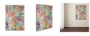 "Trademark Global Michael Tompsett 'Portland Oregon Street Map' Canvas Art - 24"" x 32"""