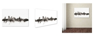 "Trademark Global Michael Tompsett 'Quebec Canada Skyline' Canvas Art - 30"" x 47"""