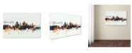 "Trademark Global Michael Tompsett 'Middlesbrough England Skyline V' Canvas Art - 22"" x 32"""