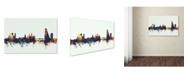 """Trademark Global Michael Tompsett 'Basel Switzerland Skyline V' Canvas Art - 22"""" x 32"""""""