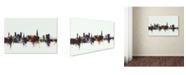 """Trademark Global Michael Tompsett 'Exeter England Skyline V' Canvas Art - 22"""" x 32"""""""