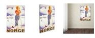 "Trademark Global Vintage Apple Collection 'Norge' Canvas Art - 22"" x 32"""