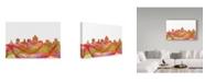 "Trademark Global Marlene Watson 'Salt Lake City Utah Skyline Swirl' Canvas Art - 22"" x 32"""