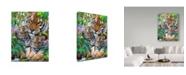 "Trademark Global Howard Robinson 'Family Of Tigers' Canvas Art - 35"" x 47"""