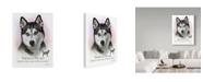 "Trademark Global Howard Robinson 'Siberian Husky' Canvas Art - 35"" x 47"""