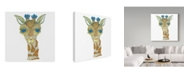 "Trademark Global Jessmessin 'Giraffe' Canvas Art - 24"" x 24"""