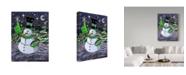"Trademark Global Jake Hose 'Jolly Hawk Snowman' Canvas Art - 24"" x 32"""
