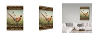 "Trademark Global Jean Plout 'Pheasant' Canvas Art - 30"" x 47"""