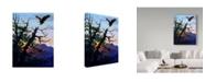 "Trademark Global Jeff Tift 'Touchdown Painting Jeff Tift' Canvas Art - 24"" x 32"""